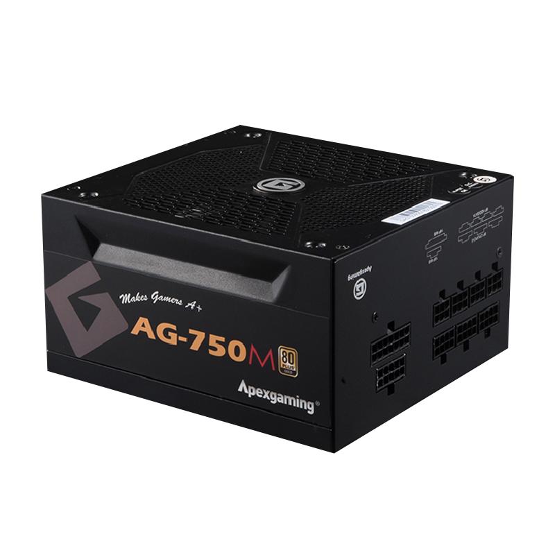 美商艾湃电竞(Apexgaming)AG-750M 额定750W 台式机电源(80PLUS金牌/全模组/日系电容/十年质保)