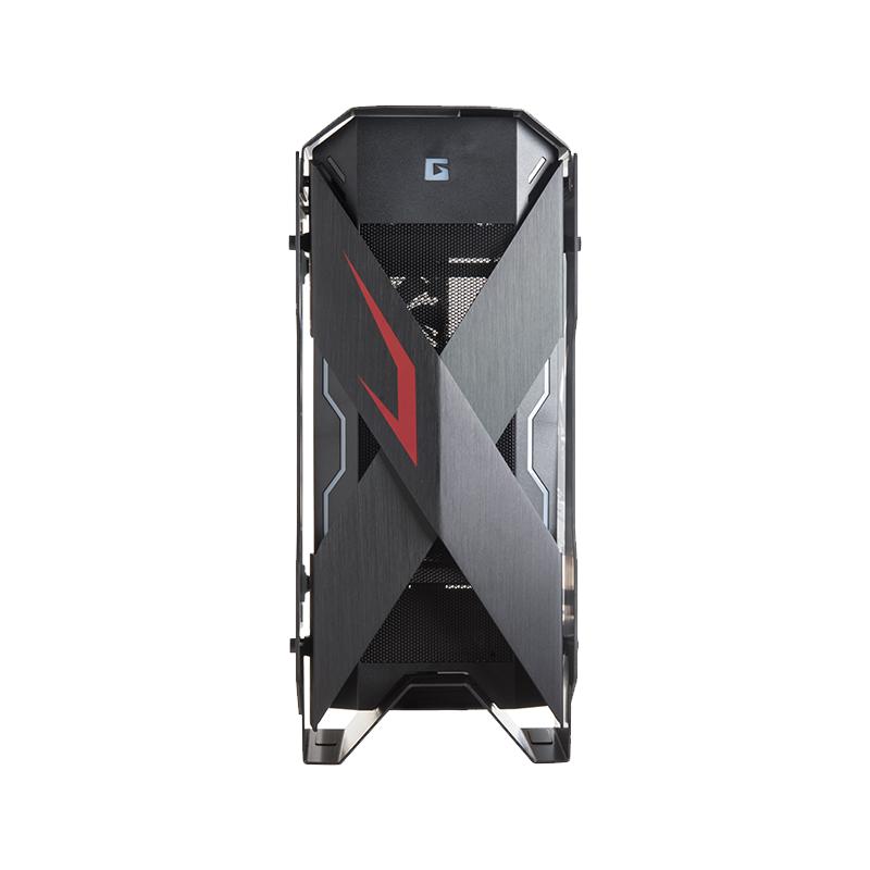 美商艾湃电竞(Apexgaming)X-Mars Junior 战神黑色中塔台式电脑机箱(EATX主板/铝合金机身/左右钢化玻璃)