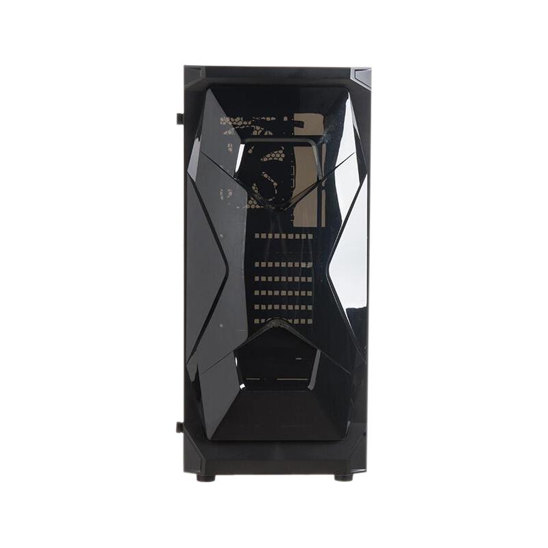 美商艾湃电竞(Apexgaming)X1 X幻魔 黑色中塔台式电脑机箱(EATX主板/支持360水冷/钢化玻璃全侧透)