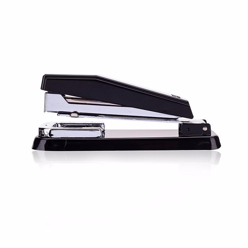 得力(deli)12#旋转式订书机/订书器 中缝装订 临时装订可拆 办公用品 黑色0414