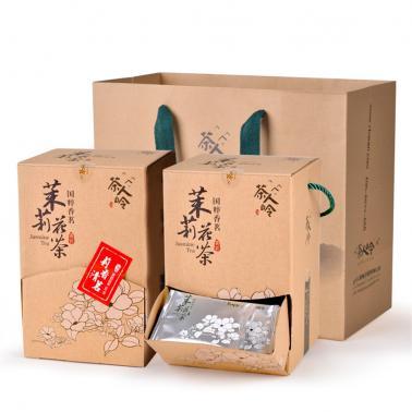 茶人岭 莉香清茗 茉莉花茶臻品彩盒 特级150克(买一送一)2件套