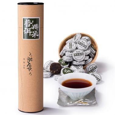 茶人岭 糯米普洱沱茶圆筒装250克