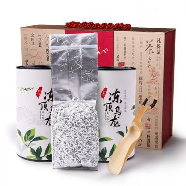 茶人岭 云海清韵 冻顶乌龙茶300克台湾高山茶礼盒