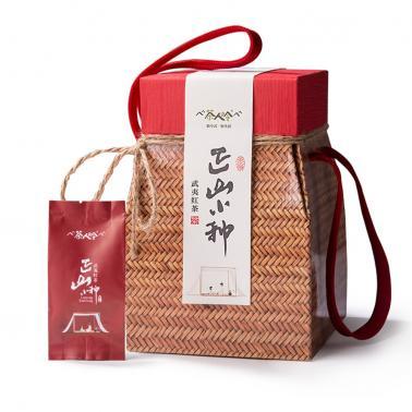 茶人岭 正山小种 武夷红茶小茶篓250克
