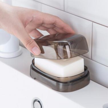 茶花茜拉普有盖皂盒 250002颜色随机