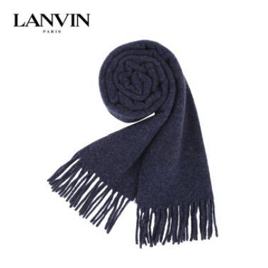 LANVIN 朗雯 围巾 100% 羊毛 深藍色 81687 1
