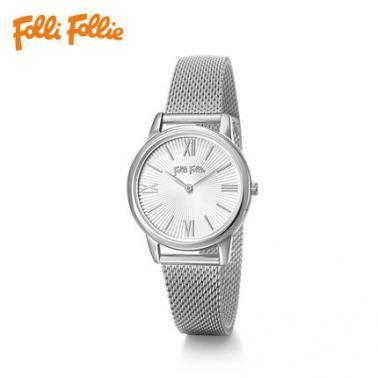 Folli Follie 芙丽芙丽 女款玫瑰银色石英腕表 WF16T040BPW