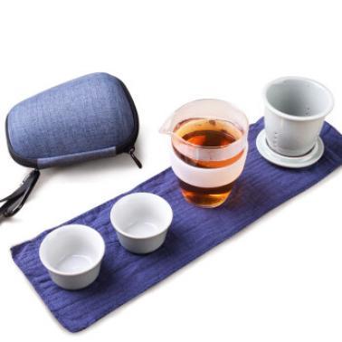 茶人岭 旅行茶具套组 青瓷快客杯一壶二杯