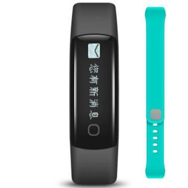 乐心 MAMBO 2 乐活版 智能手环 心率手环 触屏版 来电显示 震动提醒 智能跑步识别 计步 乐活版(黑+晴空蓝)
